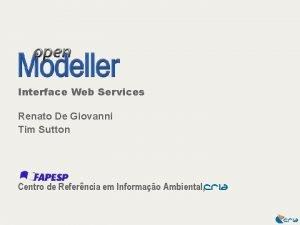 Interface Web Services Renato De Giovanni Tim Sutton