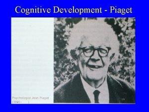 Cognitive Development Piaget Piaget Constructivism The belief that