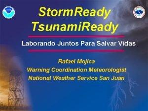 Storm Ready Tsunami Ready Laborando Juntos Para Salvar