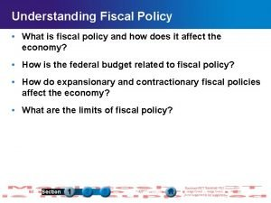 Understanding Fiscal Policy What is fiscal policy and