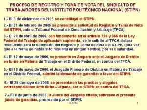 PROCESO DE REGISTRO Y TOMA DE NOTA DEL