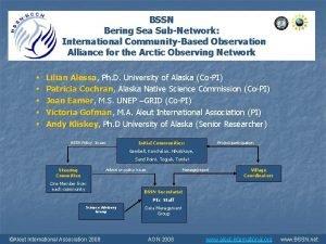 BSSN Bering Sea SubNetwork International CommunityBased Observation Alliance