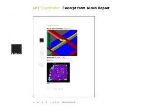MEP Coordination Excerpt from Clash Report MEP Coordination