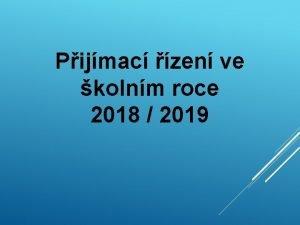 Pijmac zen ve kolnm roce 2018 2019 KDE