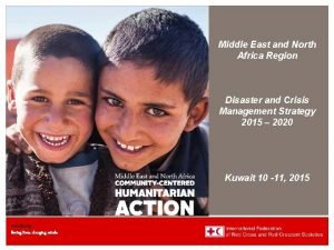 The MENA 2015 2020 Region Strategic DCMS Planning