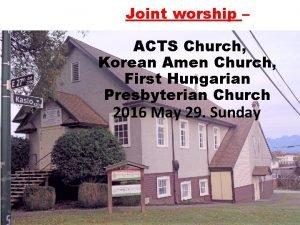 Joint worship ACTS Church Korean Amen Church First