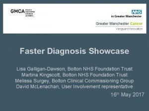 Greater Manchester Cancer Vanguard Innovation Faster Diagnosis Showcase