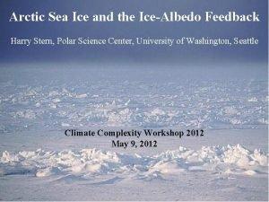 Arctic Sea Ice and the IceAlbedo Feedback Harry