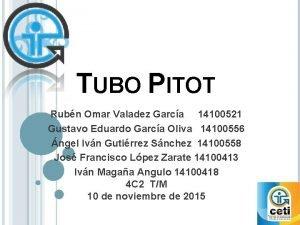 TUBO PITOT Rubn Omar Valadez Garca 14100521 Gustavo