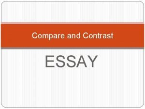 Compare and Contrast ESSAY Compare and contrast Soccer