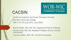 CACSIN Center for Academic and Career Success in