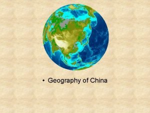 Geography of China China From Above Geography of