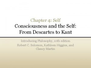 Chapter 4 Self Consciousness and the Self From