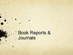 Book Reports Journals Choosing a Book Text Requirements