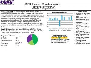 OMRF BALANCED FUND DESCRIPTION DEFINED BENEFIT PLAN For