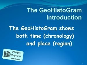 The Geo Histo Gram Introduction The Geo Histo