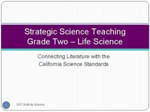 Strategic Science Teaching Grade Two Life Science Connecting