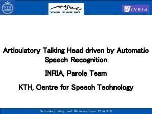Articulatory Talking Head driven by Automatic Speech Recognition