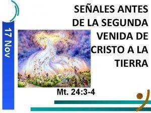 17 Nov SEALES ANTES DE LA SEGUNDA VENIDA