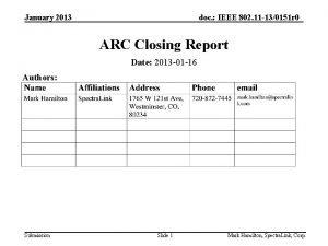 January 2013 doc IEEE 802 11 130151 r