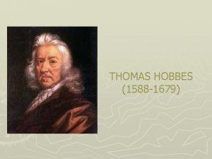 THOMAS HOBBES 1588 1679 1534 LACT OF SUPREMACY