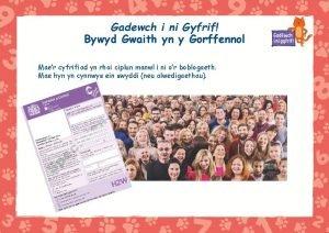 Gadewch i ni Gyfrif Bywyd Gwaith yn y