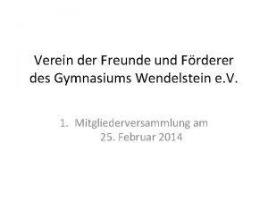 Verein der Freunde und Frderer des Gymnasiums Wendelstein