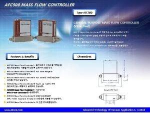 AFC 500 MASS FLOW CONTROLLER Type AFC 500