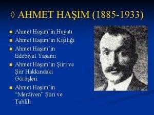 AHMET HAM 1885 1933 n n n Ahmet