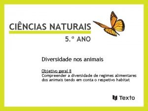 CINCIAS NATURAIS 5 ANO Diversidade nos animais Objetivo