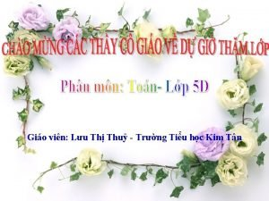 Gio vin Lu Th Thu Trng Tiu hc
