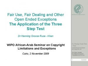 Fair Use Fair Dealing and Other Open Ended