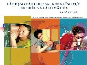 CC DNG C U HI PISA TRONG LNH