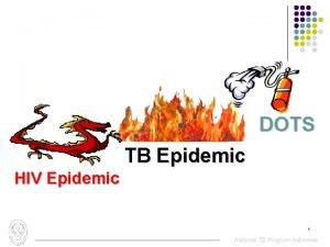 DOTS TB Epidemic HIV Epidemic 1 National TB