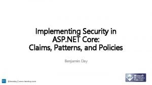 Implementing Security in ASP NET Core Claims Patterns