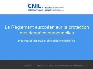 Le Rglement europen sur la protection des donnes