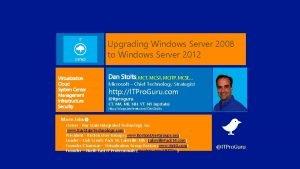 Upgrading Windows Server 2008 to Windows Server 2012