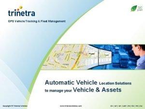 GPS Vehicle Tracking Fleet Management Automatic Vehicle Location