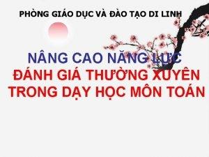 PHNG GIO DC V O TO DI LINH