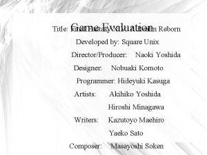 Title Final Fantasy XIV A Realm Reborn Game