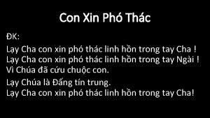 Con Xin Ph Thc K Ly Cha con