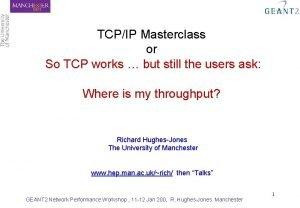 TCPIP Masterclass or So TCP works but still