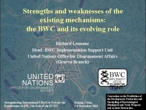 Strengths and weaknesses of the existing mechanisms the