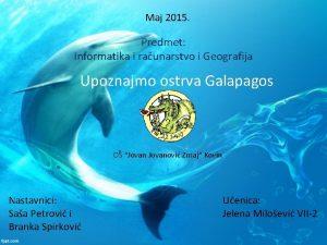 Maj 2015 Predmet Informatika i raunarstvo i Geografija