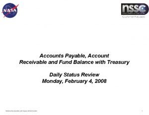 Accounts Payable Account Receivable and Fund Balance with