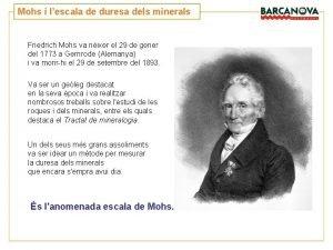 Mohs i lescala de duresa dels minerals Friedrich