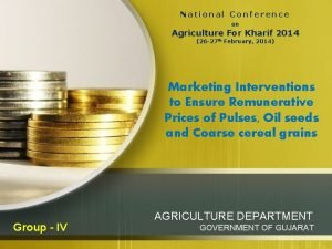 National Conference on Agriculture For Kharif 2014 26