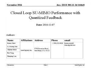 November 2016 doc IEEE 802 11 161446 r