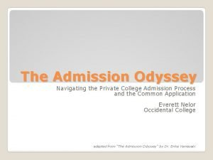 The Admission Odyssey Navigating the Private College Admission