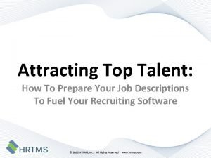 Attracting Top Talent How To Prepare Your Job